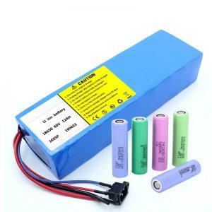 Lithiová baterie 18650 60V 12AH lithium-iontová dobíjecí koloběžka