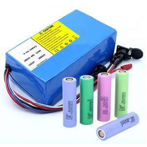Lithiová baterie 18650 48V 12AH 48V 500 W Baterie s elektrickým cyklem s BMS