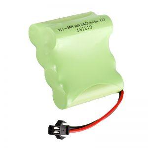 Akumulátorová baterie NiMH AA2400 6V Akumulátorové elektrické hračky, nářadí, baterie