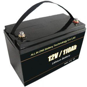 Náhradní solární akumulační baterie olověná lithiová baterie 12V 110Ah lifepo4