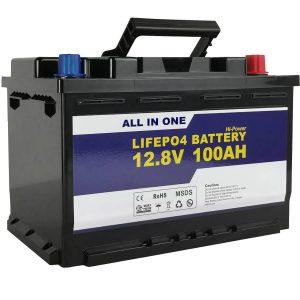 Náhradní baterie GEL / AGM Solární akumulátor 12 V 100 Ah Li-ion baterie LifePo4