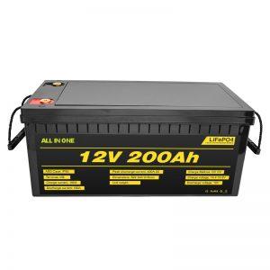 Přizpůsobitelný elektromobil 12V Lifepo4 baterie 12,8v 200ah s baterií Lifepo4 s životností 2000 cyklů