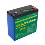 Solární hluboký cyklus 24v 48v 24ah Lifepo4 baterie UPS 12v 24ah baterie