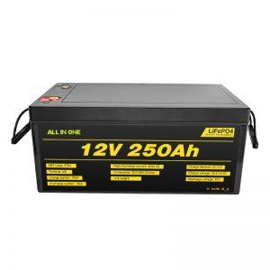 Nejoblíbenější Nejlepší baterie solárního systému Balení LiFePO4 lithium-iontová baterie 12V 250 Ah