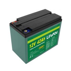 Údržba přizpůsobeného solárního akumulátoru 12V 12ah 40ah 42ah Lifepo4 Cell Lifepo4 s BMS