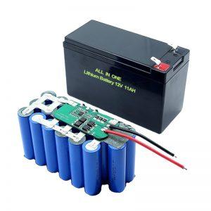 ALL IN ONE 18650 3S5P 12Voltová lithiová baterie 11Ah dobíjecí lithiová baterie
