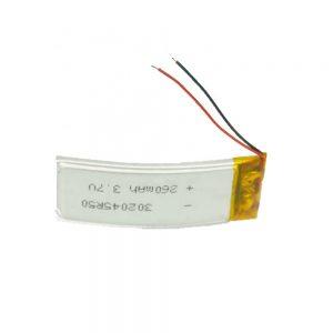 LiPO přizpůsobená baterie 302045 3,7 V 260 mAh