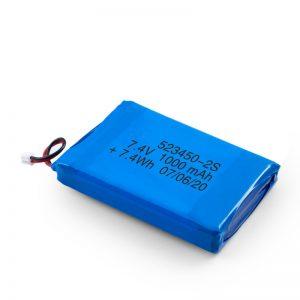 Dobíjecí baterie LiPO 523450 3,7 V 1 000 mAh / 7,4 V 1 000 mAh / 3,7 V 2 000 mAh