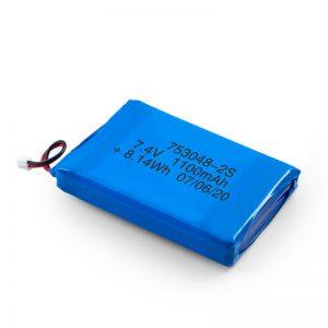 Dobíjecí baterie LiPO 753048 3,7 V 1100 mAh / 7,4 V 1100 mAh / 3,7 V 2200 mAh