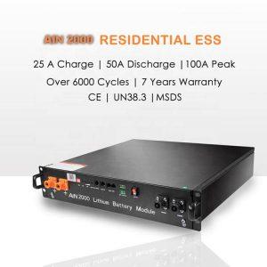 Síť zap / vyp 48v 10kW solární systém akumulace energie lifepo4 48v 50Ah 100Ah 200Ah lithiová baterie