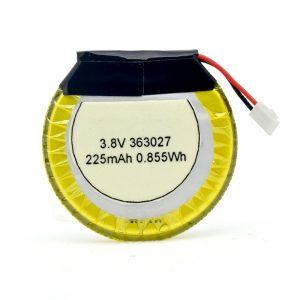 LiPO přizpůsobená baterie 363027 3,7 V 225mAH